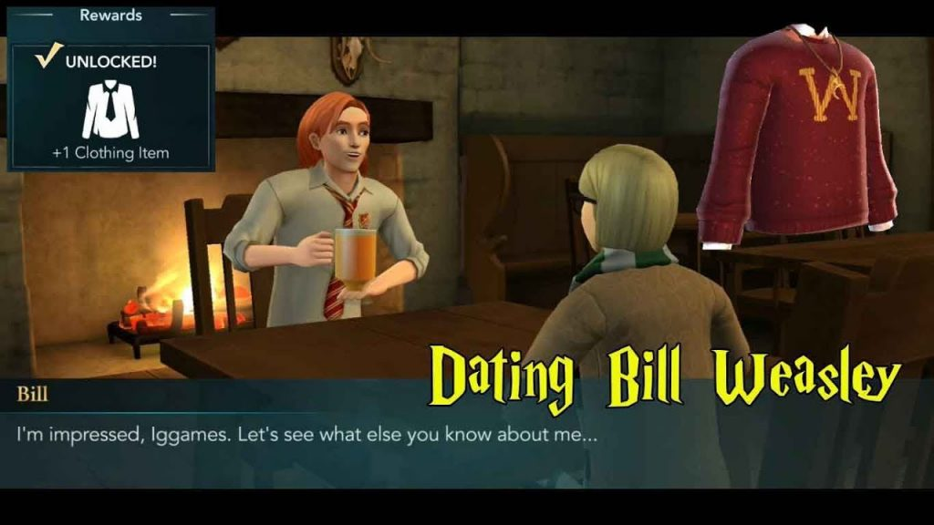 Dating Bill Weasley Harry Potter Hogwarts Mystery
