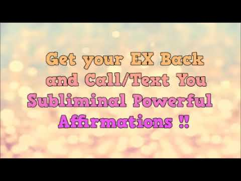 Get Your Ex Girlfriend Back Positive Affirmations